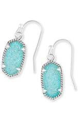 Kendra Scott Kendra Scott Lee Earrings in Silver Teal Drusy