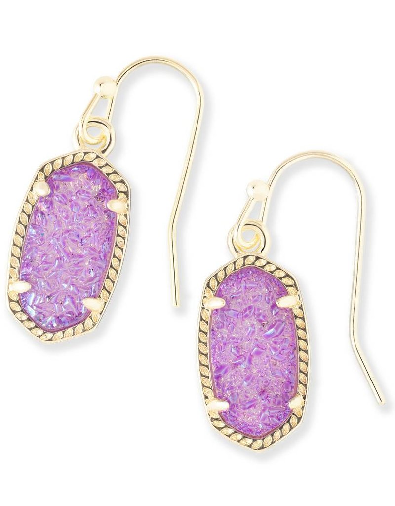 Kendra Scott Kendra Scott Lee Earrings in Gold Violet Drusy