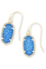 Kendra Scott Kendra Scott Lee Earrings in Gold Cobalt Drusy