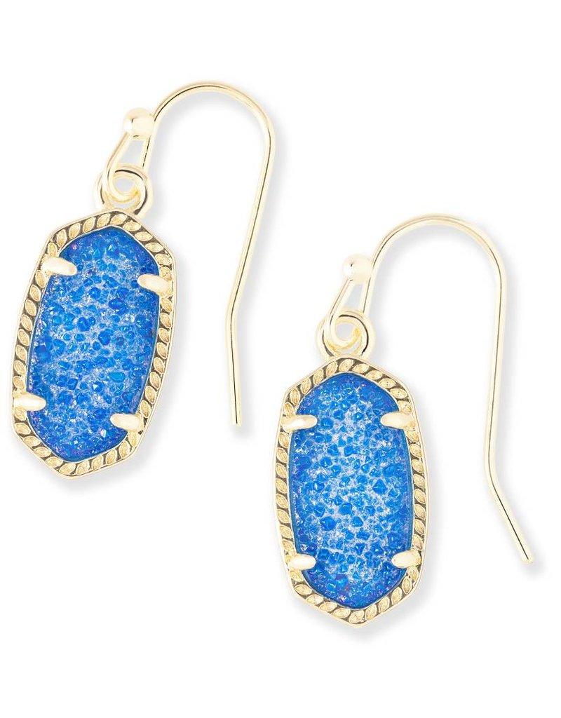 Kendra Scott Kendra Scott Lee Earrings in Gold Cobalt Drusy