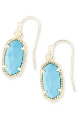 Kendra Scott Kendra Scott Lee Earrings in Gold Turquoise