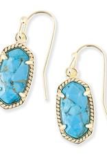 Kendra Scott Kendra Scott Lee Earrings in Bronze Veined Turquoise