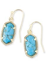 Kendra Scott Kendra Scott Lee Earrings in Bronze Veined Turquoise