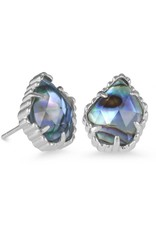 Kendra Scott Kendra Scott Tessa Earrings in Silver Abalone Shell