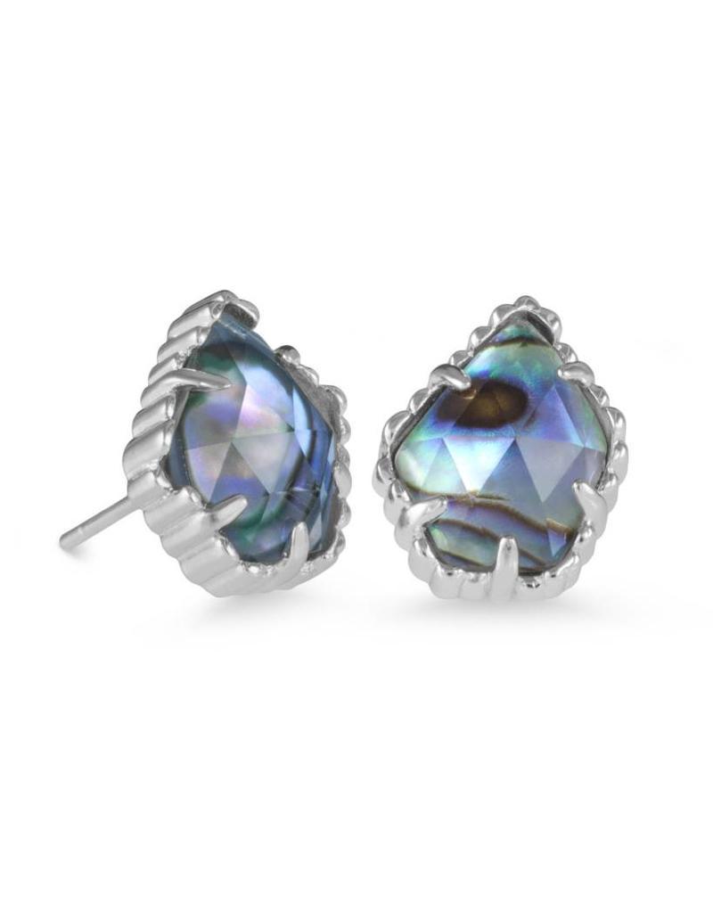 Kendra Scott Kendra Scott Tessa Earrings in Silver Abalone Shell