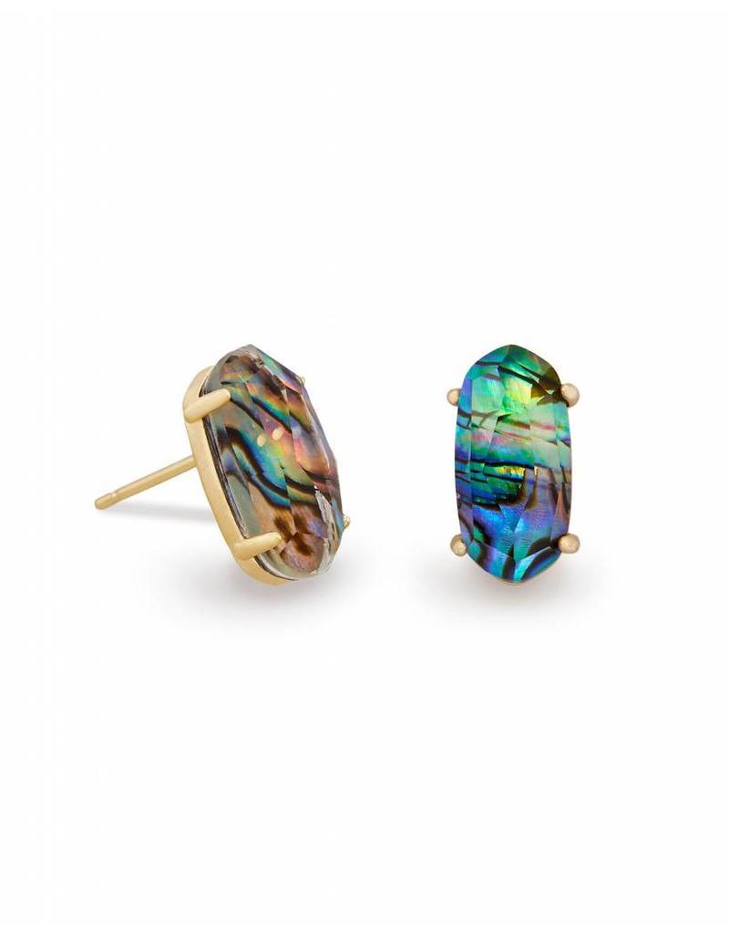 Kendra Scott Kendra Scott Betty Earrings in Gold Abalone Shell