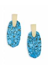 Kendra Scott Kendra Scott Aragon Earrings in Bronze Veined Turquoise