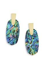 Kendra Scott Aragon Earrings in Gold Abalone Shell