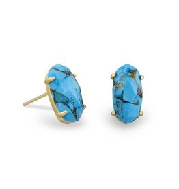 Kendra Scott Kendra Scott Betty Earrings in Bronze Veined Turquoise