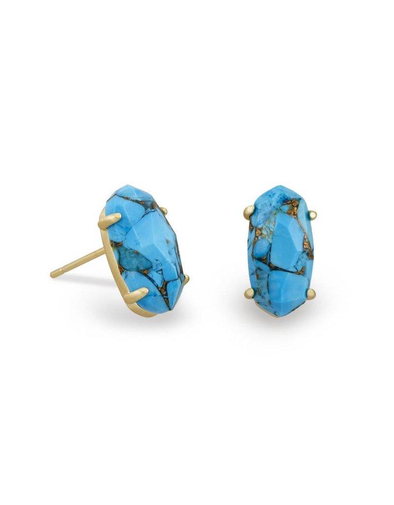 Kendra Scott Betty Earrings in Bronze Veined Turquoise