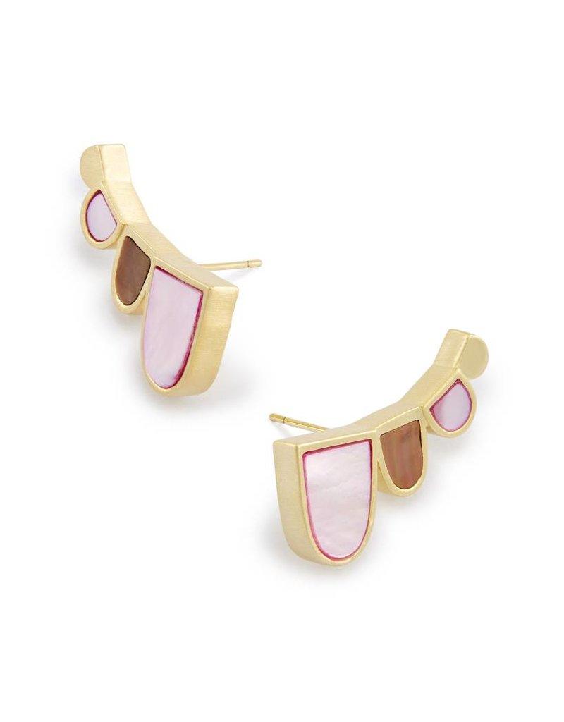Kendra Scott Kendra Scott Fannie Earrings in Blush Brown Mix