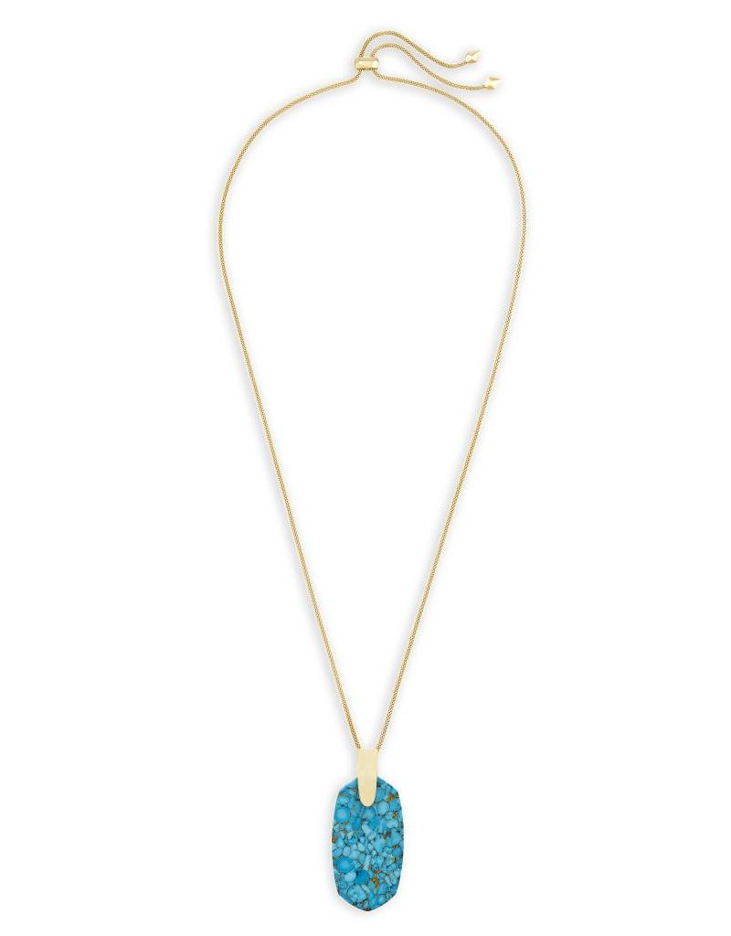 Kendra Scott Kendra Scott Inez Necklace in Bronze Veined Turquoise