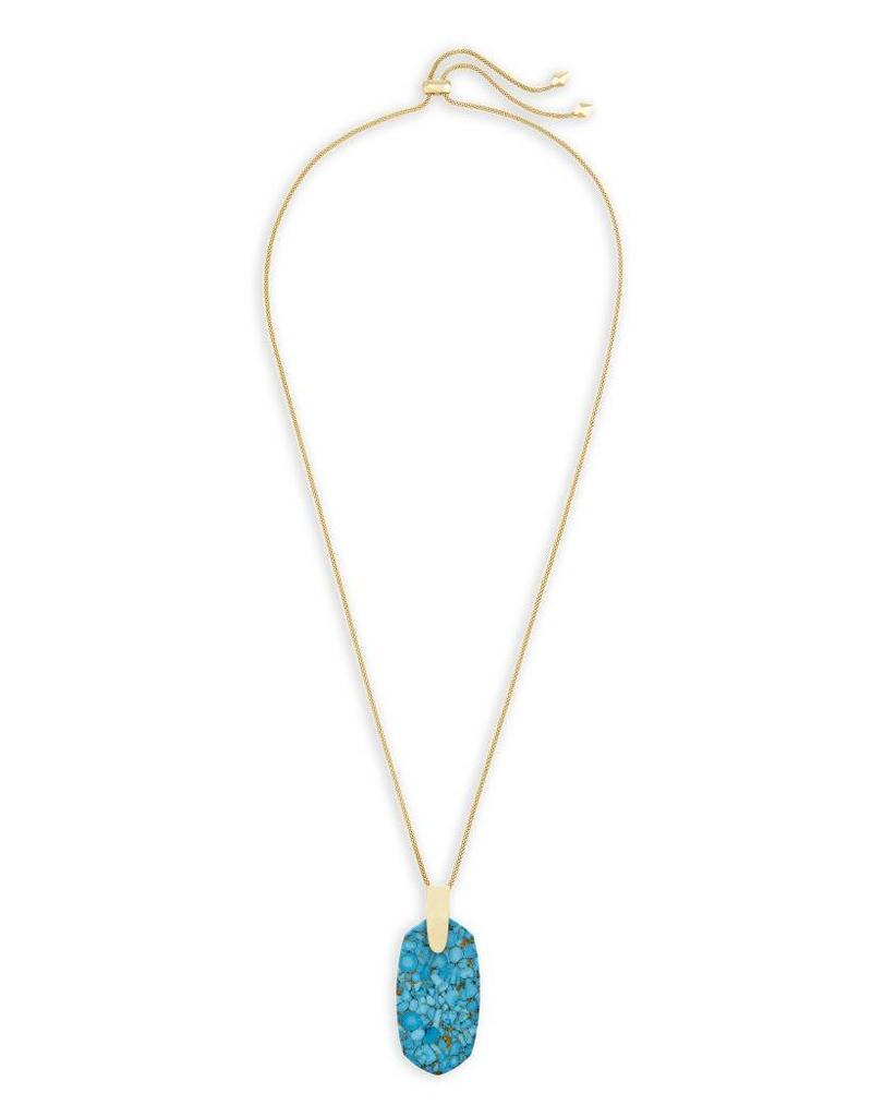 Kendra Scott Kendra Scott Inez Necklace in Bronze Veined Turquoise