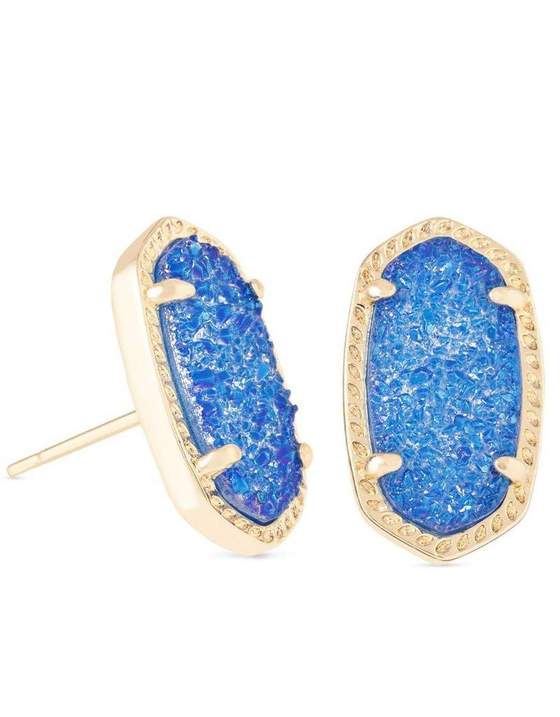 Kendra Scott Kendra Scott Ellie Earrings in Gold Cobalt Drusy