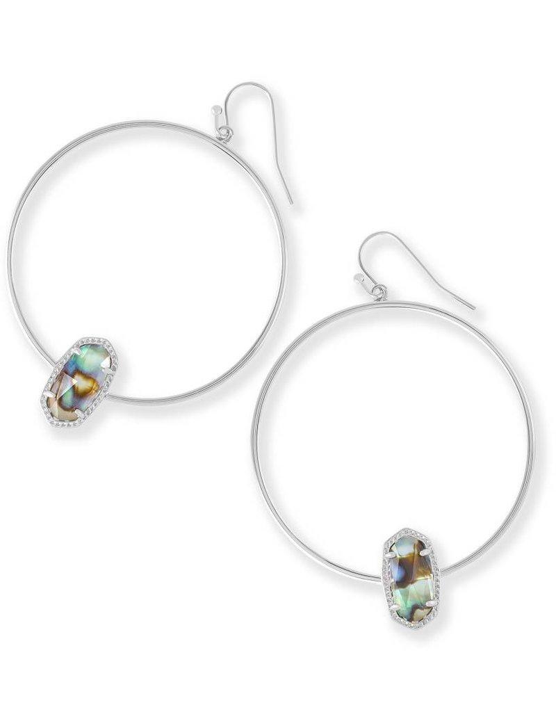 Kendra Scott Kendra Scott Elora Hoop Earrings in Silver Abalone Shell