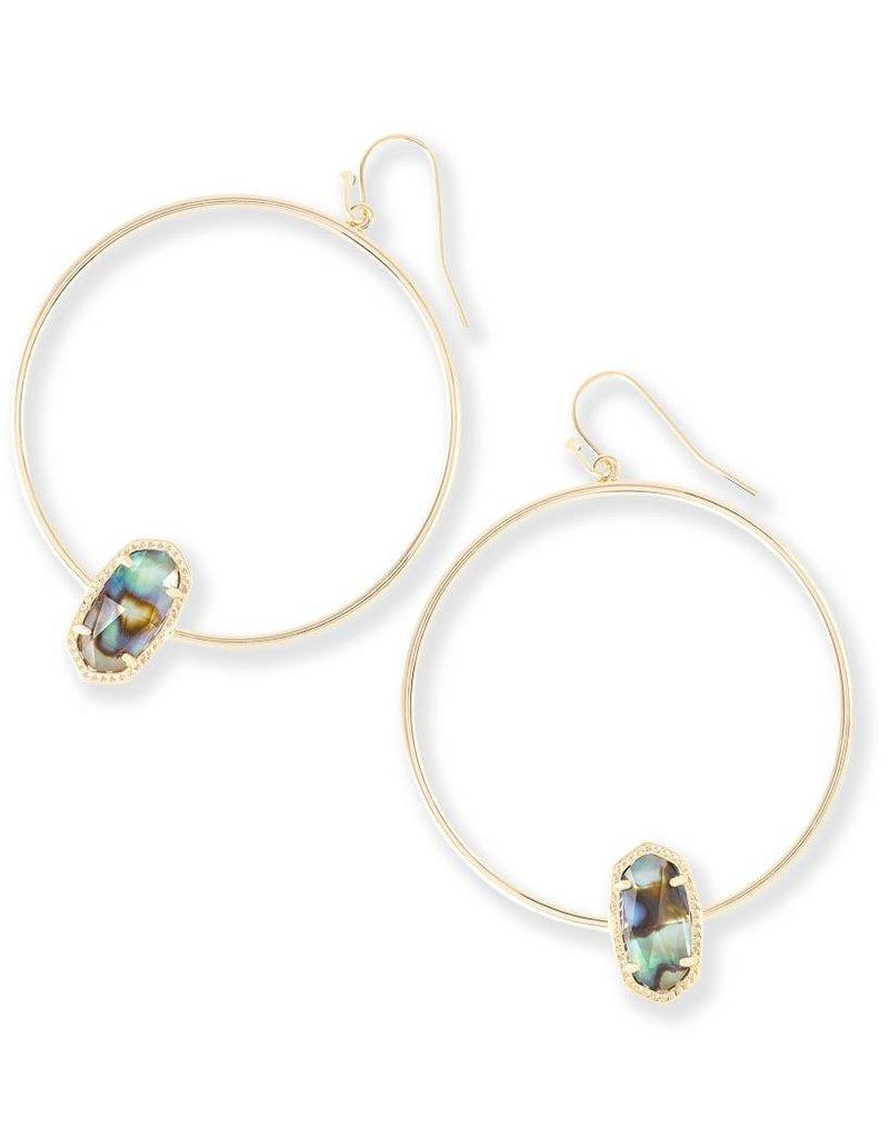 Kendra Scott Kendra Scott Elora Hoop Earrings in Gold Abalone Shell