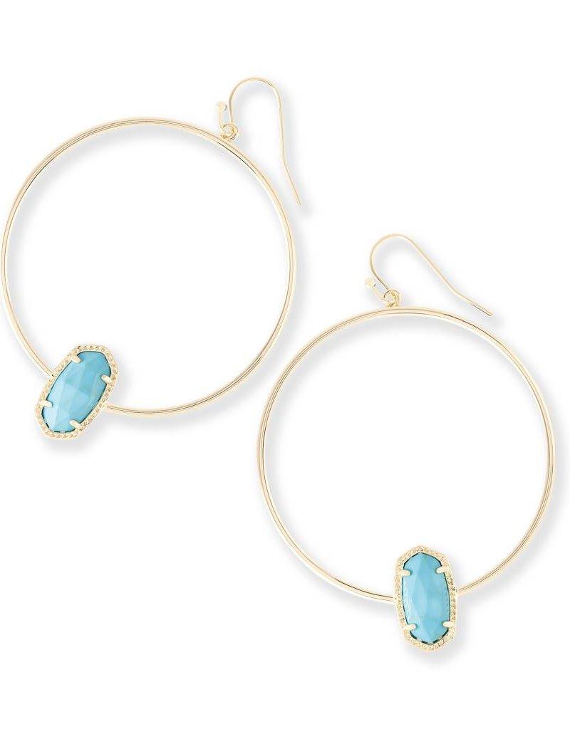 Kendra Scott Kendra Scott Elora Hoop Earrings in Turquoise