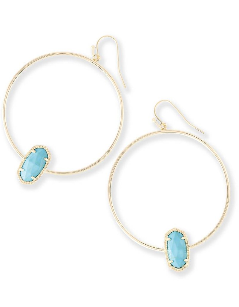 Kendra Scott Kendra Scott Elora Hoop Earrings in Turquoise