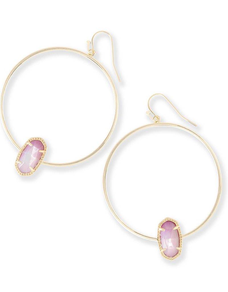 Kendra Scott Kendra Scott Elora Hoop Earrings in Blush MOP