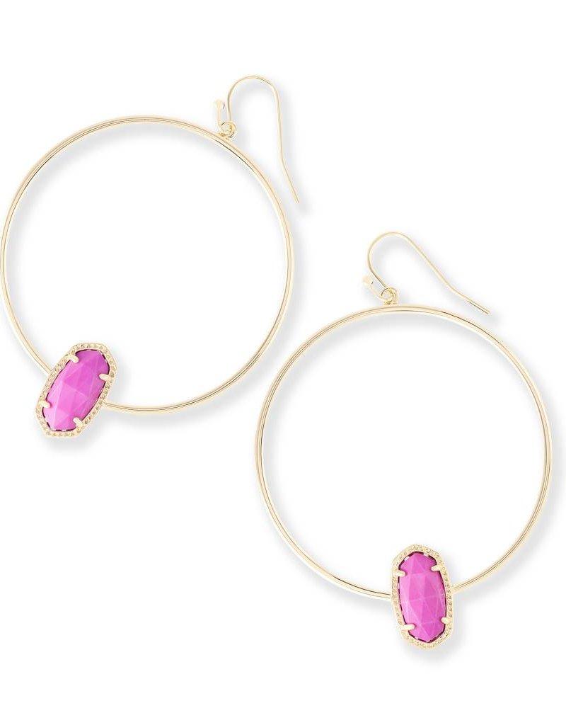 Kendra Scott Kendra Scott Elora Hoop Earrings in Gold Magenta
