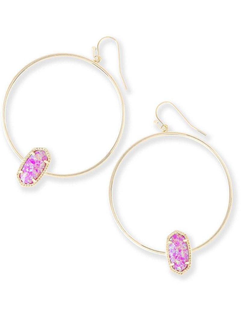 Kendra Scott Kendra Scott Elora Hoop Earrings in Fuchsia Opal