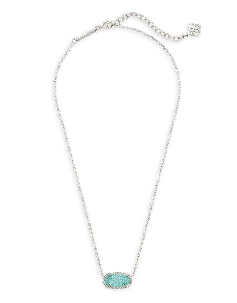 Kendra Scott Kendra Scott Elisa Necklace in Silver Teal Drusy