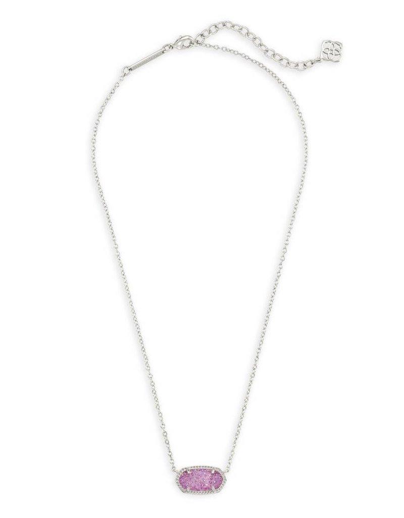 Kendra Scott Kendra Scott Elisa Necklace in Silver Violet Drusy