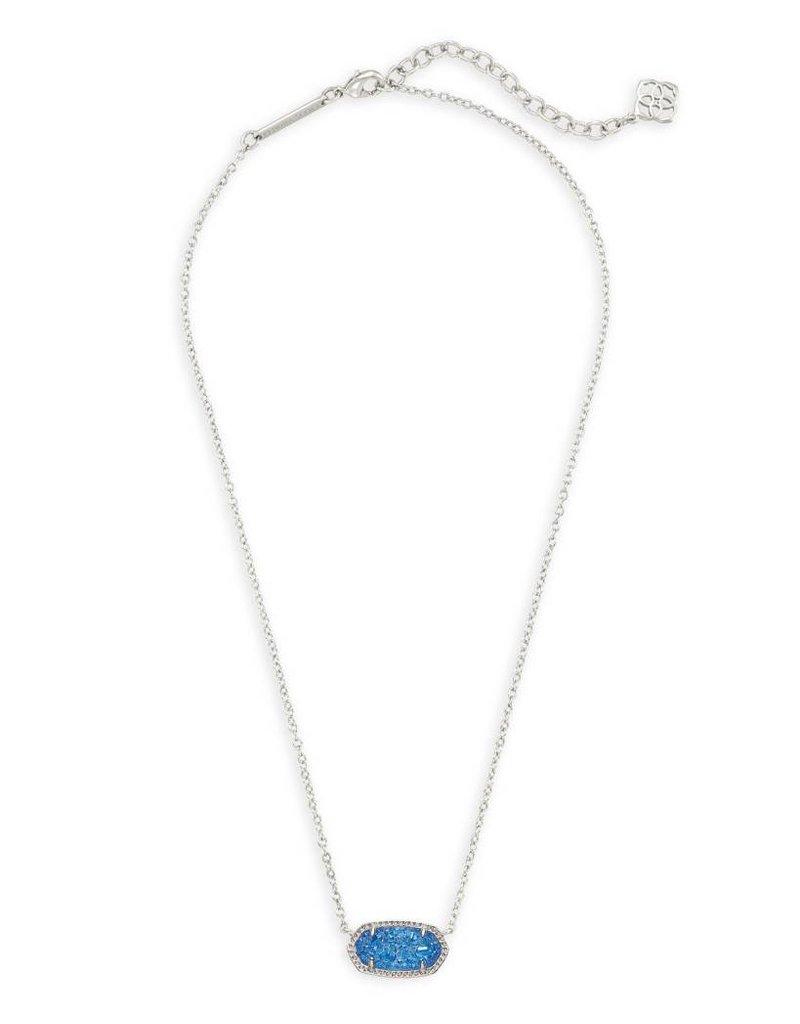 Kendra Scott Kendra Scott Elisa Necklace in Silver Cobalt Drusy