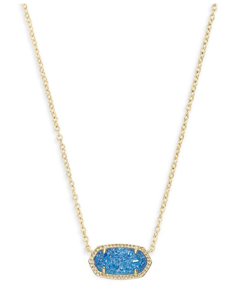 Kendra Scott Kendra Scott Elisa Necklace in Gold Cobalt Drusy