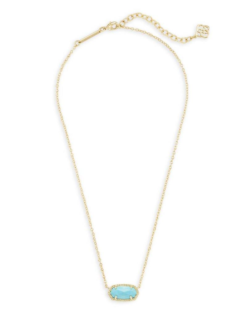 Kendra Scott Kendra Scott Elisa Necklace in Gold Turquoise