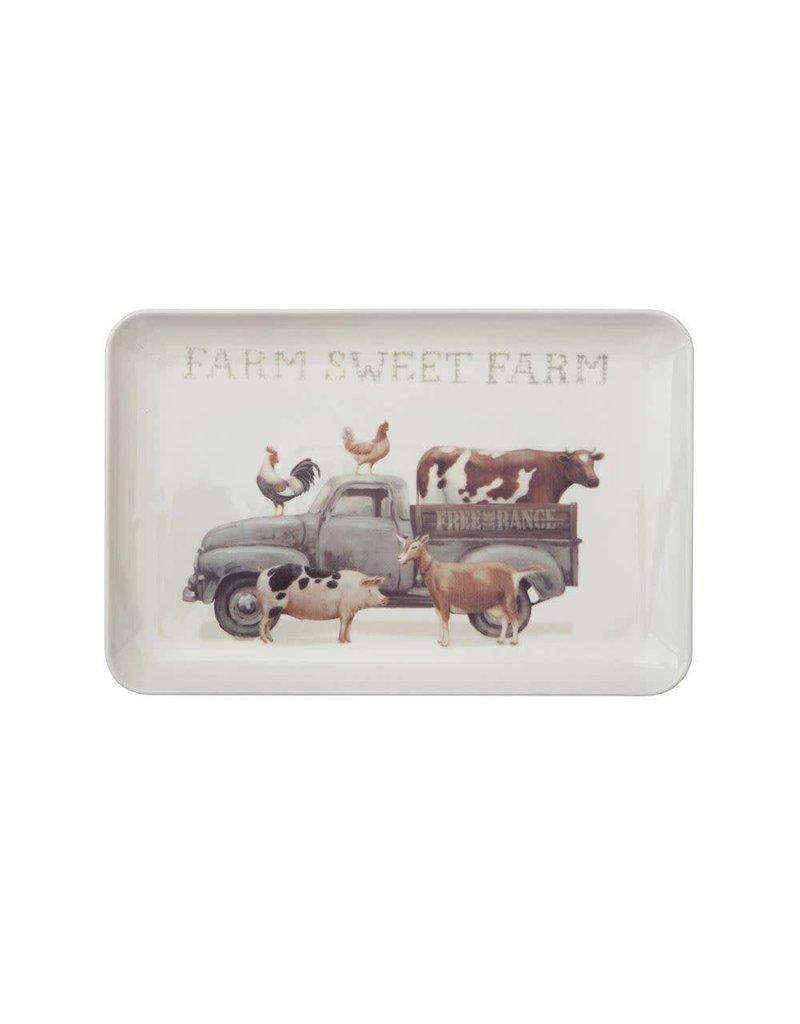 12in x 8in Stoneware Farm Sweet Farm Platter