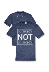 Sorry Not Sorry Blue Acid Wash Tee