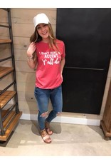 Accent-Y'all Do Ruby Acid Wash Tee