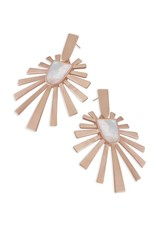 Kendra Scott Kendra Scott Cambria Earring Rose Gold Ivory Mother of Pearl