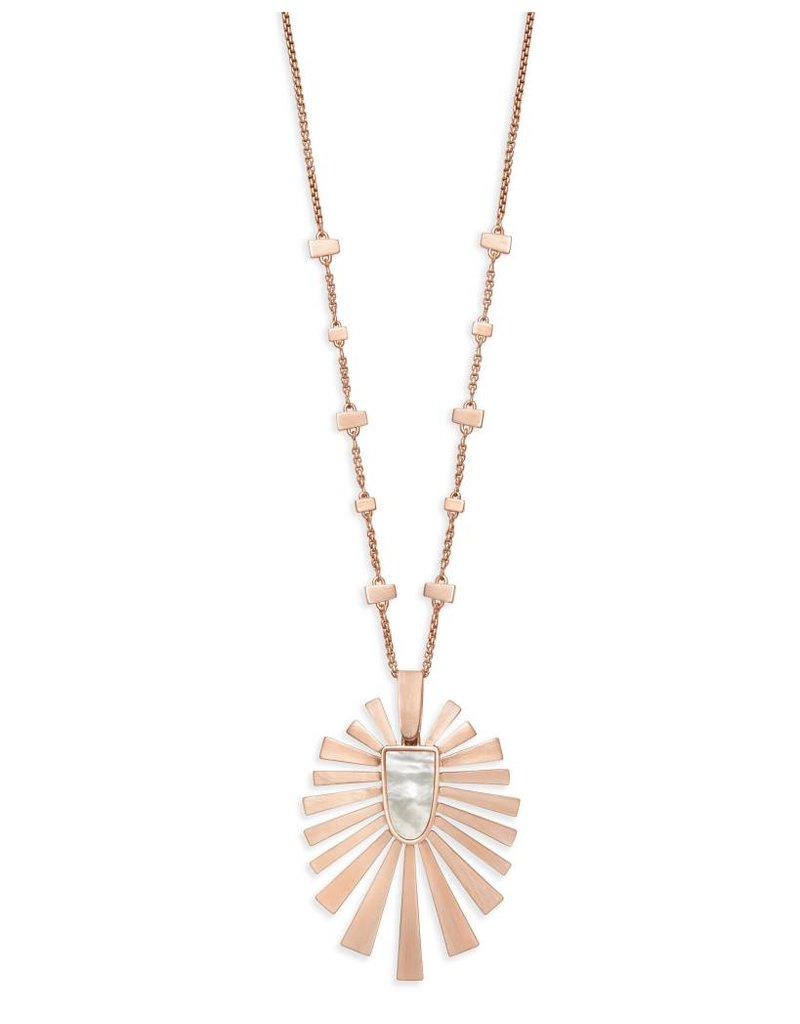 Kendra Scott Paula Necklace Rose Gold Ivory Mother of Pearl