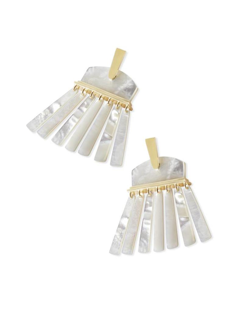 Kendra Scott Kendra Scott Layne Earring Gold Ivory Mother of Pearl