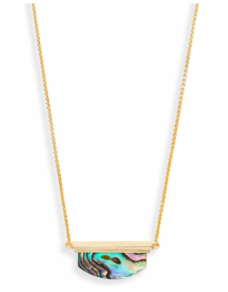 Kendra Scott Dean Necklace Gold Abalone