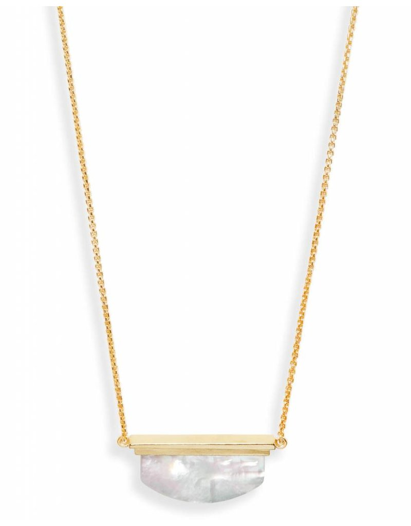 Kendra Scott Dean Necklace Gold Ivory Mother of Pearl