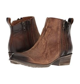 Circle G Corral Burnished Brown Double Zip Bootie- Q0025