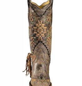 Corral Corral Cognac/Tobacco Woven Boots- A2992