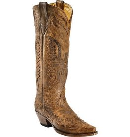 Corral Corral Brown Eagle Overlay Tall Boots-R2295