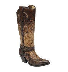 Corral Corral Saddle/Cognac Harness & Stud Boots- G1229
