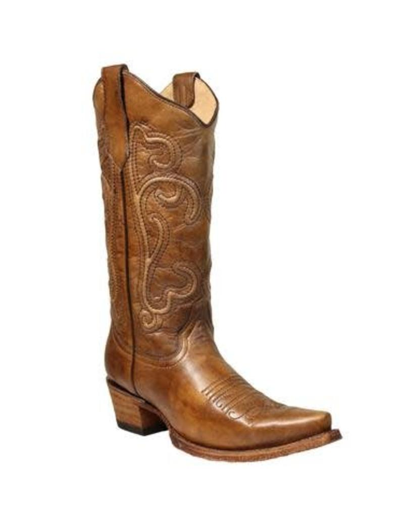 Circle G Circle G Brown Corded Embroidery Boots- L5305