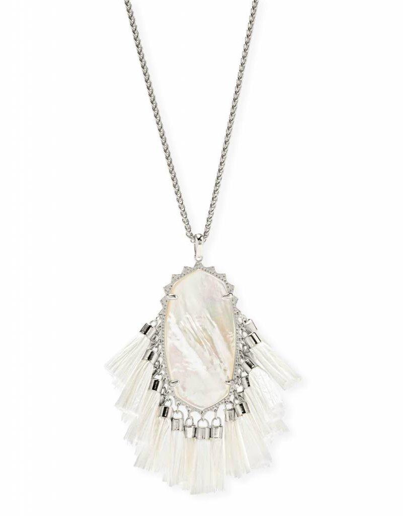 Kendra Scott Kendra Scott Betsy Necklace in Silver Ivory MOP