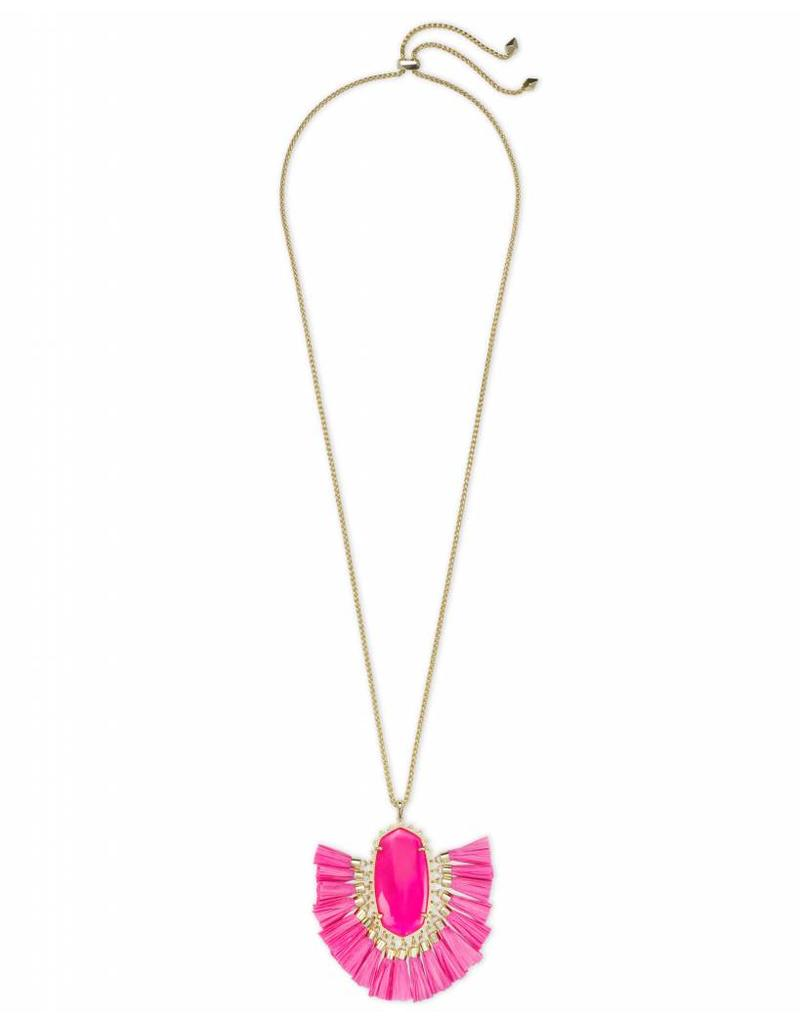 Kendra Scott Kendra Scott Betsy Necklace in Pink Unbanded Agate