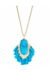 Kendra Scott Kendra Scott Betsy Necklace in Gold Aqua Howlite