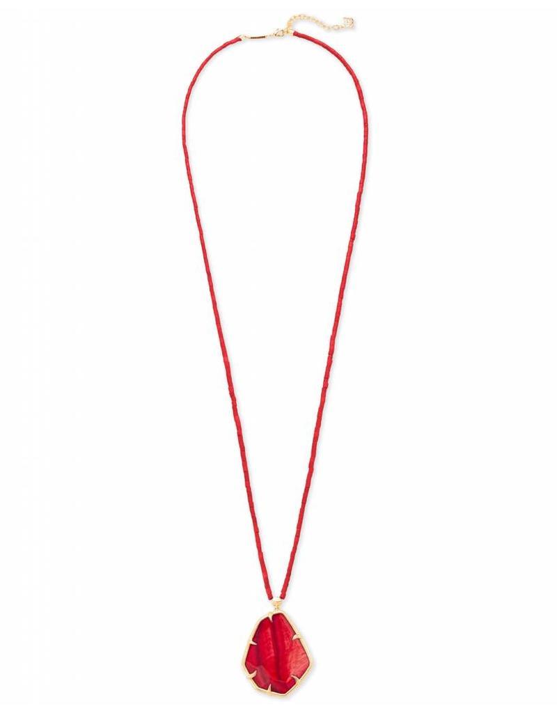 Kendra Scott Kendra Scott Beatrix Necklace in Gold Red MOP