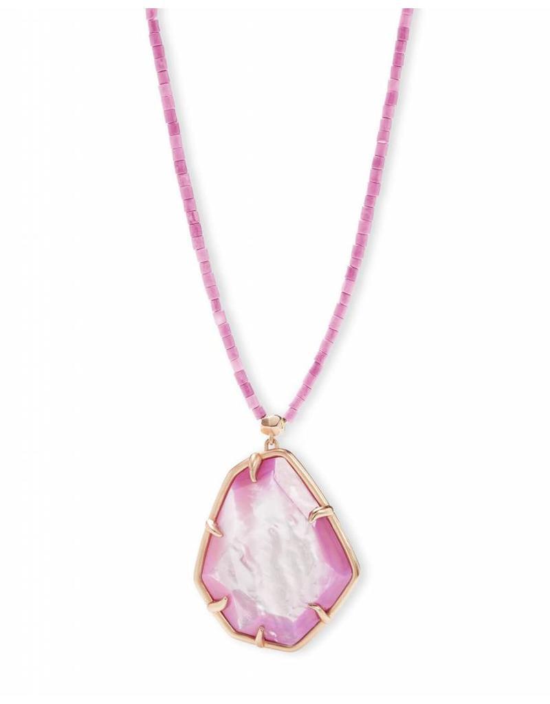 Kendra Scott Kendra Scott Beatrix Necklace in Rose Gold Lilac MOP