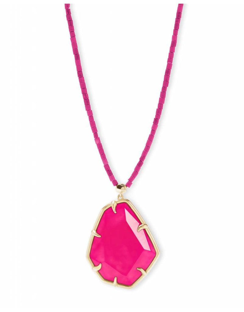 Kendra Scott Kendra Scott Beatrix Necklace in Gold Pink Unbanded Agate