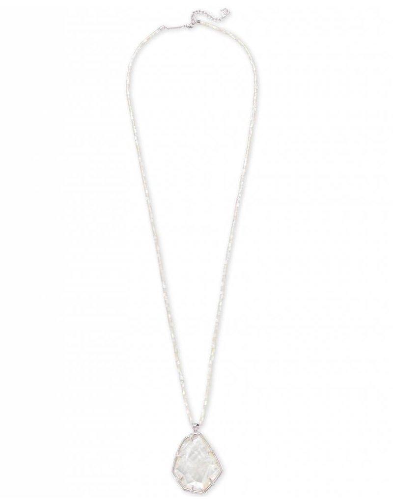 Kendra Scott Kendra Scott Beatrix Necklace in Silver Ivory MOP